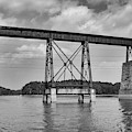 Train Trestle Over Lake Hartwell by Dale Powell