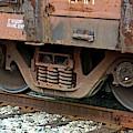 Train Wheels On Track, Artistic by Connie Fox