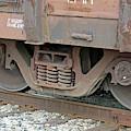Train Wheels On Track by Connie Fox