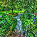 Tranquility Southern Living Walkway Landscape Architecture Art  by Reid Callaway