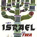 Trans World Airlines - Israel - Vintage Travel Poster by Siva Ganesh