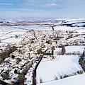 Tregaron Village, Mid Wales, In The Snow by Keith Morris