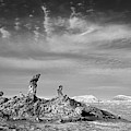 Tres Marias In Monochrome Moon Valley Chile by James Brunker