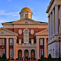 Trible Library At Christopher Newport University Side View by Ola Allen