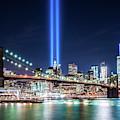 Tribute In Light From Brooklyn 1 by Imma Barrera