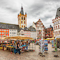 Trier, Germany,  People By Market Day by Ariadna De Raadt