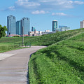 Trinity Trail And Fort Worth Skyline 61719 by Rospotte Photography