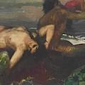 Triton And Nereid by Bocklin Arnold