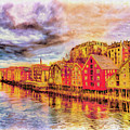 Trondheim - Waterfront Evening by Wib Dawson