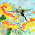 Tropical Hummingbird by Ginette Callaway