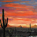 Tucson Mountains At Sunset by Chance Kafka