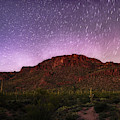 Tucson Mountains Star Trails by Chance Kafka