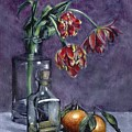 Tulips And Oranges by John Neeve