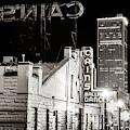 Tulsa Skyline From Historic Cain's Ballroom - Classic Sepia by Gregory Ballos