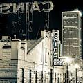 Tulsa Skyline From Historic Cain's Ballroom - Sepia by Gregory Ballos
