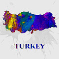 Turkey, Map, Artist Singh by Artist Singh MAPS