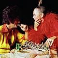 Twiggy And Justin De Villeneuve Play Chess, Vogue by Bert Stern