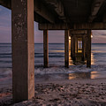 Twilight At The Pier by Jean Noren
