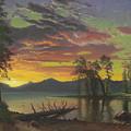 Twilight, Lake Tahoe by Albert Bierstadt