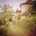 Two Chapels On The Trail Lake Como Italy by Joan Carroll