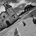 Two Crosses And Mission San Jose San Antonio Texas  by Blake Richards