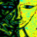 Two Faces - Green - Female by R C Rawxe Clemens