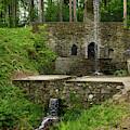 Two-level Waterfall In Betliar by Les Palenik