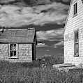 Two Sheds In Blue Rocks #2 by Ken Morris
