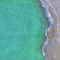 Two Yellow Kayak Boat Arrival by I Love Photo And Apple.