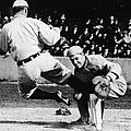 Ty Cobb Sliding Into Catcher by Pictorial Parade