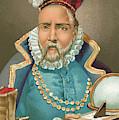 Tycho Brahe Illustration by J Planella Coromina