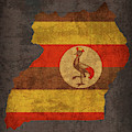 Uganda Country Flag Map by Design Turnpike