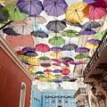 Umbrellas Over La Fortaleza by The Art of Alice Terrill