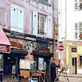 Un Artiste A La Place Du Tertre Paris. by Anthony Palmer