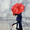 Under A Red Umbrella by Michal Madison