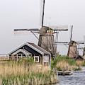 Unesco Windmills In Kinderdijk by Wolfgang Stocker