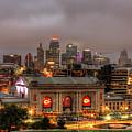 Union Station Sunrise 2 Kansas City Missouri Art  by Reid Callaway