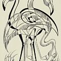 Untitled, Flamingos by Manuel Bennett