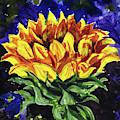 Up To The Sun Sunflower Impressionism  by Irina Sztukowski