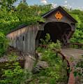 Upper Falls Covered Bridge - Vermont by Joann Vitali