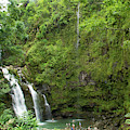 Upper Waikani Falls 1 by Marie Leslie