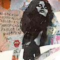 Uschi Obermaier Kommune 1 - Plakative Collage by Felix Von Altersheim