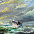 Uss Enterprise Returns To Pearl by Vincent Alexander Booth