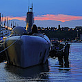 Uss Growler New York City Sunset by Toby McGuire