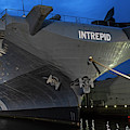 Uss Intrepid New York Ny Battleship Dramatic Sky New York City by Toby McGuire