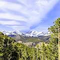 Valley View Of The Rocky Mountains by Dawn Richards