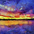 Van Gogh Sunset Reflection by Dan Sproul