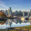 Vancouver Skyline In Autumn by Andy Konieczny