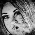 Vaping Girl by Nigel Dudson