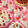 Variety Of Strawberry Desserts by Graphicaartis